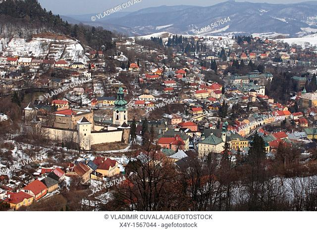 The medieval castle 'Stary zamok' in Banska Stiavnica, the old mining town registered on the UNESCO World Heritage list