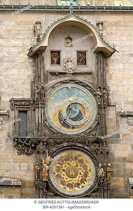 Astronomical clock, Orloj, Old Town Hall, Old Town Square, Prague, Czech Republic