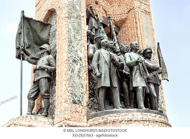 Republic Monument, designed by Pietro Canonica, Taksim Square, Istanbul, Turkey