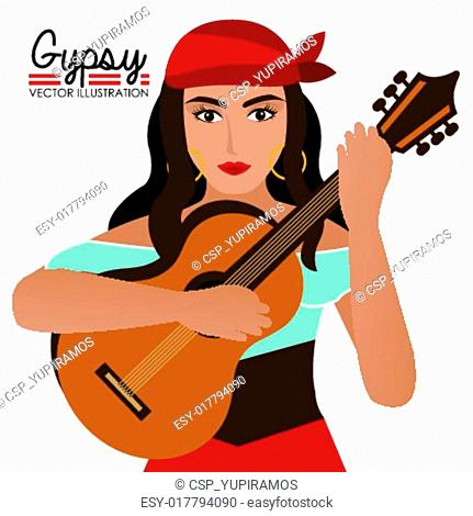 Gipsy design, vector illustration