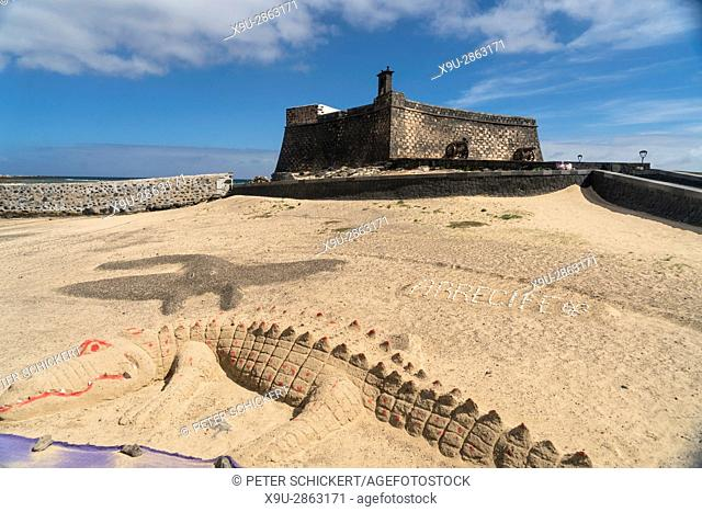 Castle of San Gabriel at the island capital Arrecife, Lanzarote, Canary Islands, Spain