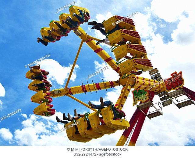 multi-place carnival ride. New Mexico