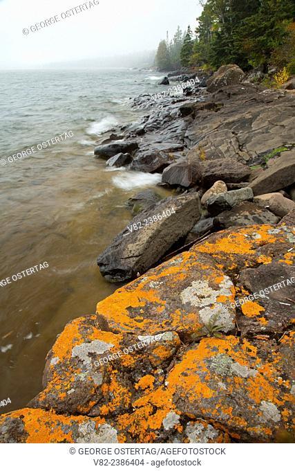 Lake Superior shoreline, Cascade River State Park, Minnesota