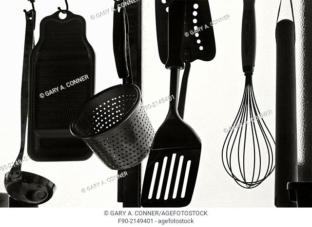 Silhouette of cooking tools in home, Tosu, Saga, Japan
