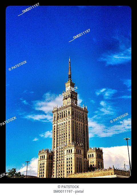 Palace of Culture and Science the most visible landmark of Warsaw, Poland