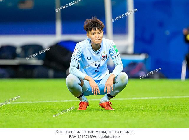 France, Reims, Stade Auguste-Delaune, 11.06.2019, Football - FIFA Women's World Cup - USA - Thailand Photo: vl Disappointment at Natthakarn Chinwong (Thailand