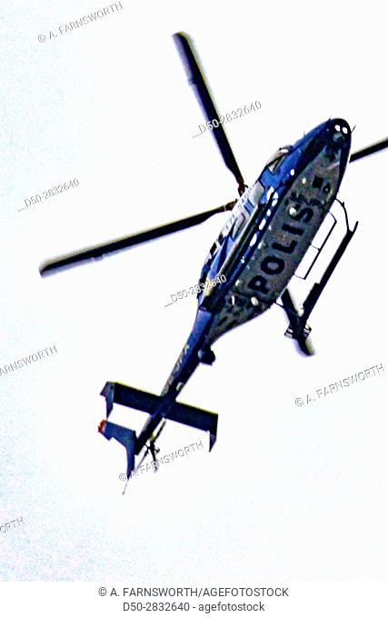 STOCKHOLM, SWEDEN Police hellicopter