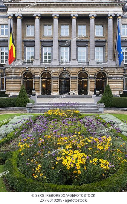 The Royal Palace in the center of Brussels, Belgium