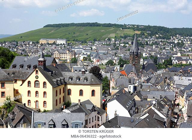 Town view, Old Town of Bernkastel, Bernkastel-Kues, Rhineland-Palatinate, Germany