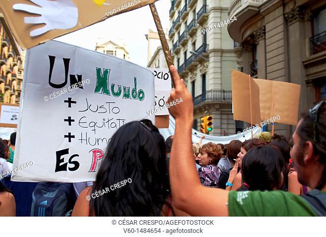 -Demonstration of People, Movement 15M- Barcelona (Spain)