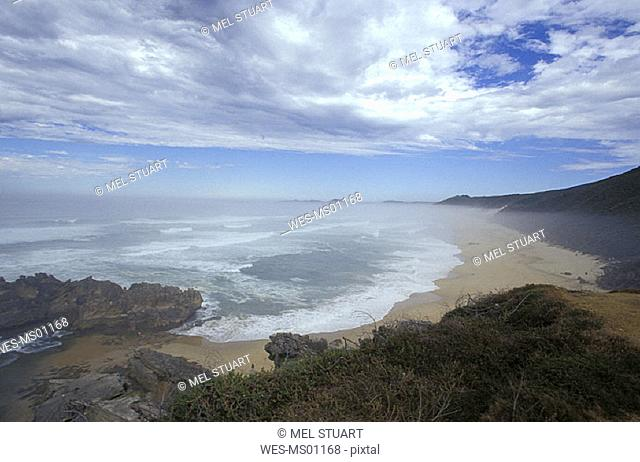 Brenton-on-Sea, morning mist, Garden Route, Western Cape, South Africa