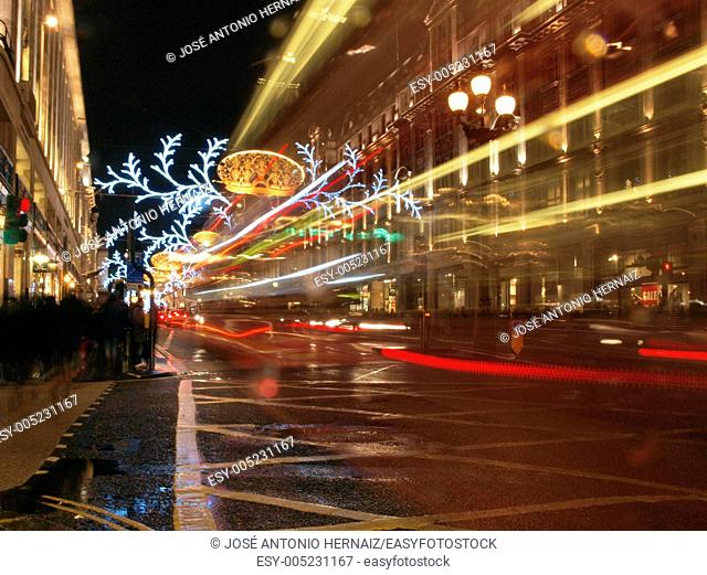 christmas decoration and lights in london