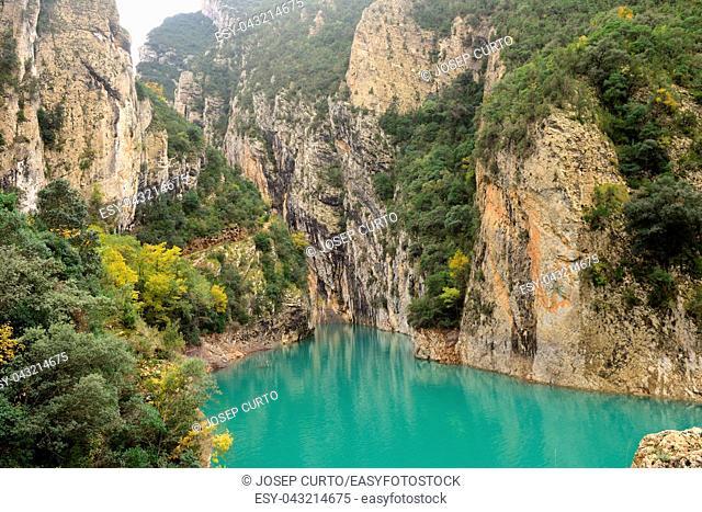 canyon of Congost de Mont-Rebei, Serra Montsec, La Noguera, Lleida province, Catalonia, Spain