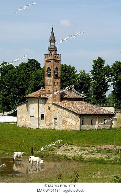 madonna di loreto church, polesine parmense, emilia romagna, italy