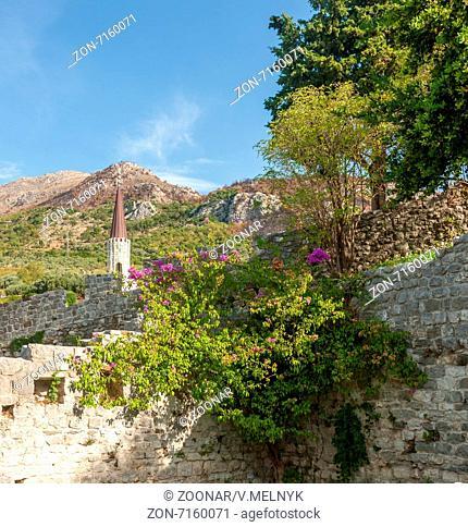 The high fortress walls, Stari Bar, Montenegro