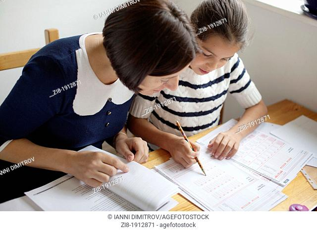 Private tuition-Schoolgirl learning for 11+ exams
