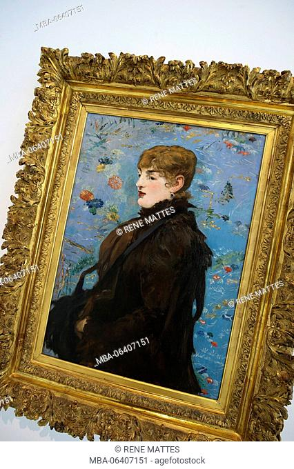 France, Meurthe et Moselle, Nancy, Stanislas square, Fine Arts museum, Autumn (portrait of Méry Laurent) by Edouard Manet, 1882