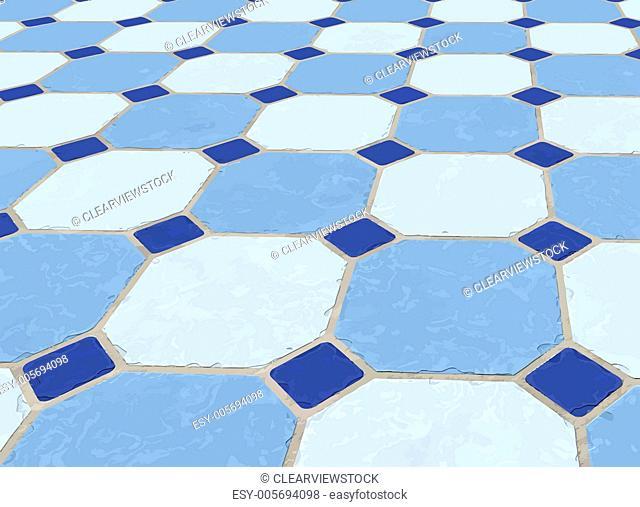 marble tiled floor