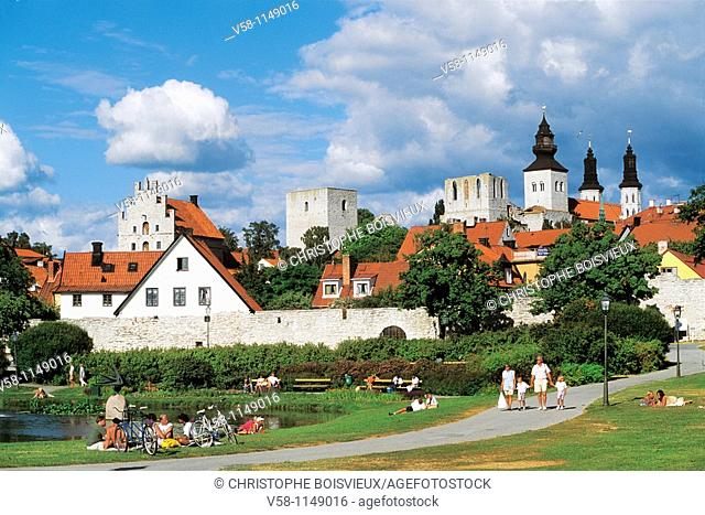 Sweden, Gotland island, World Heritage Site, Hanseatic town of Visby