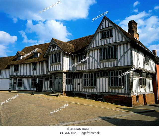 The medieval Guildhall in the picturesque village of Lavenham