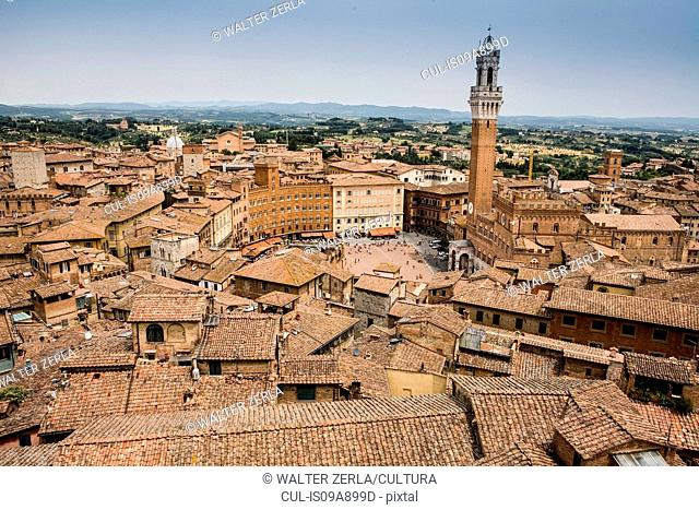 View of Piazza Del Campo, Siena, Italy