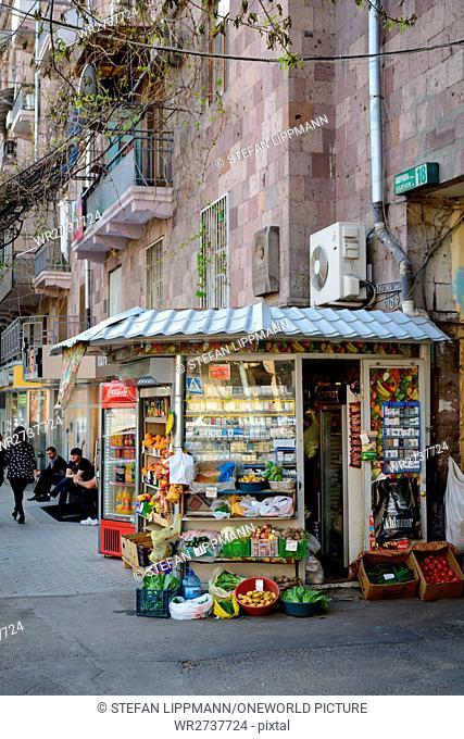 Armenia, Yerevan, Kentron, Kiosk