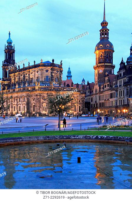 Germany, Saxony, Dresden, Cathedral, Castle