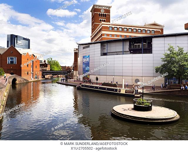 National Sea Life Centre at Old Turn Junction on the Birmingham Canal Birmingham West Midlands England