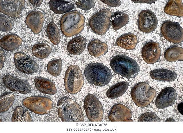 pebbles on the street pavement