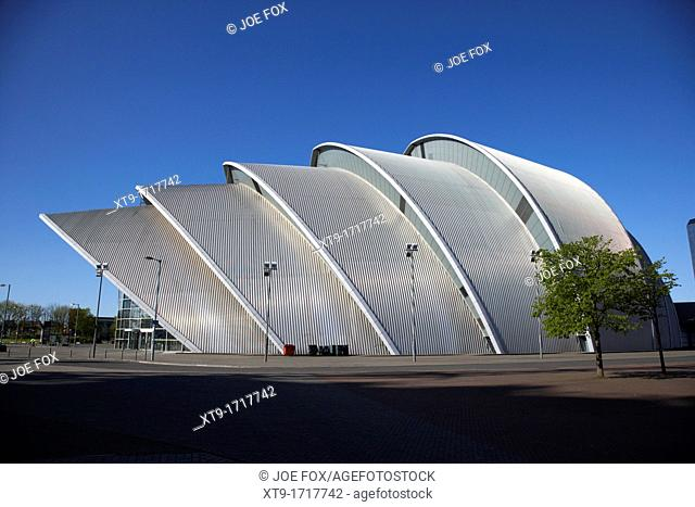 The Clyde Auditorium at the scottish exhibition and conference centre secc Glasgow Scotland UK