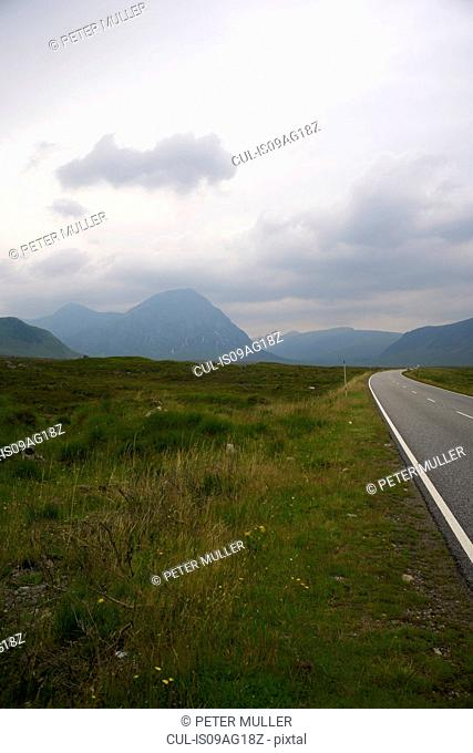 Road through Rannoch Moor, Scotland