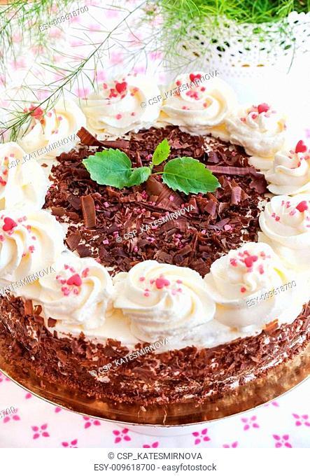 Homemade Black Forest cake