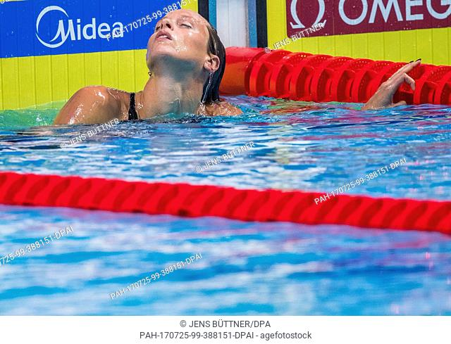 Federica Pellegrini of Italy competing in the women's 200m freestyle semi-final at the FINA World Championships 2017 in Budapest, Hungary, 25 July 2017