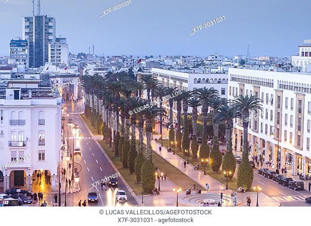 Mohammed V avenue, Rabat. Morocco