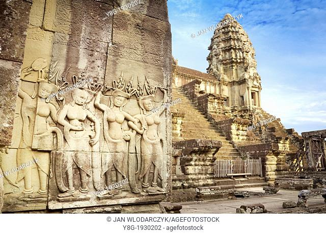 Angkor - monumental city which remained after the old capital of Khmer Empire, Angkor Wat Temple, Cambodia, Asia (UNESCO)