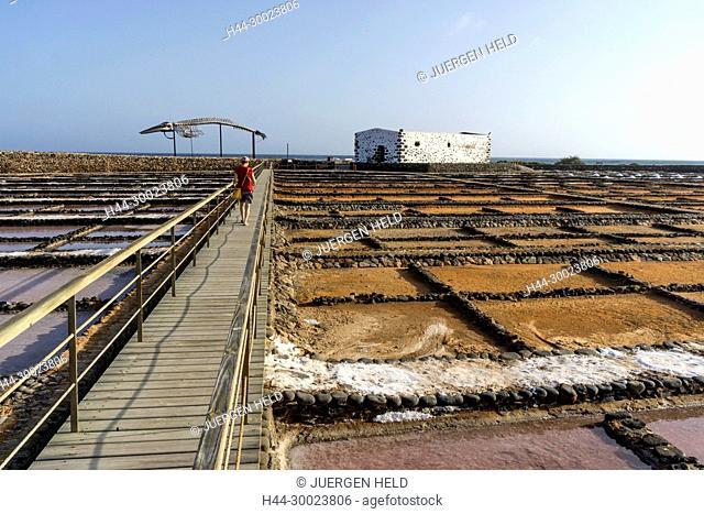 Saline in Caleta de Fuste, Fuerteventura Spain
