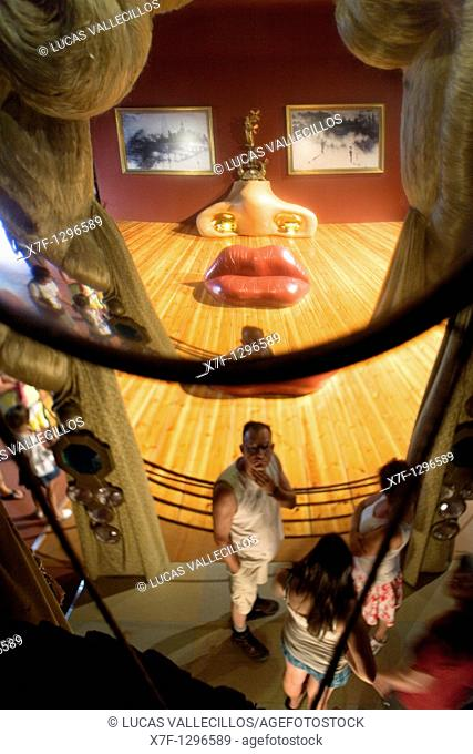 Dalí's Theatre Museum 'Mae West', Figueres.Girona province. Catalonia. Spain