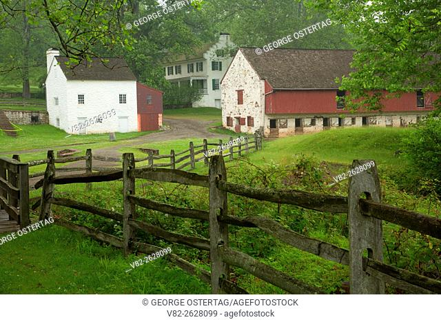 Cast House, Ironmaster's mansion and barn, Hopewell Furnace National Historic Site, Pennsylvania