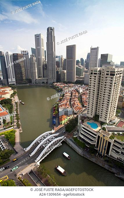 Singapore City, Raffles Square District Skyline