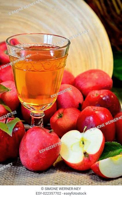 Äpfel Wein Saft Obst