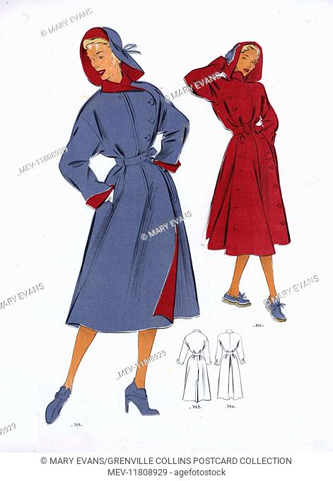 Fashion Plate - 1950s - French - Women's Costume