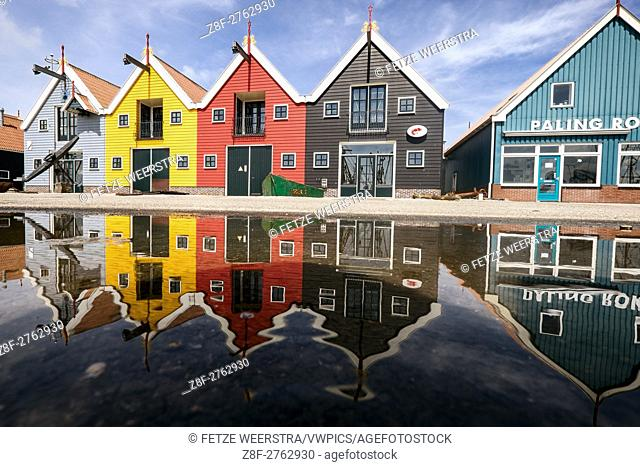 Coloured houses in Zoutkamp (Groningen), the Netherlands