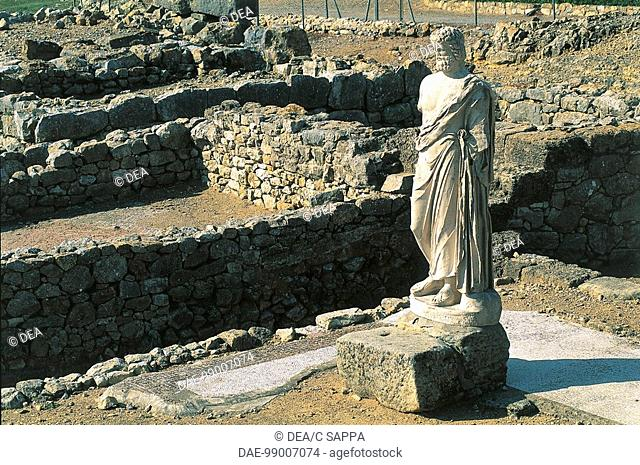 Statue of Asclepius, Ampurias, Greek city founded in the 6th century BC, Catalonia, Spain. Greek civilisation