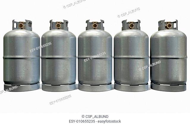 Gas Cylinder Row