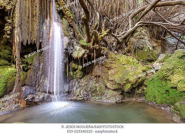 Waterfall in Casarabonela, Malaga. Spain
