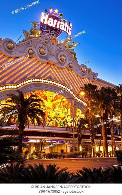 Early morning at Harrah's Casino, Las Vegas, Nevada USA
