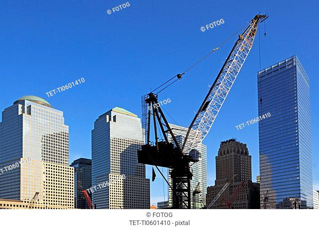 Crane and Skyscrapers