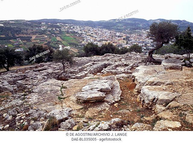 Necropolis of Phourni, Archanes, Crete, Greece. Minoan civilisation, 26th-13th century BC
