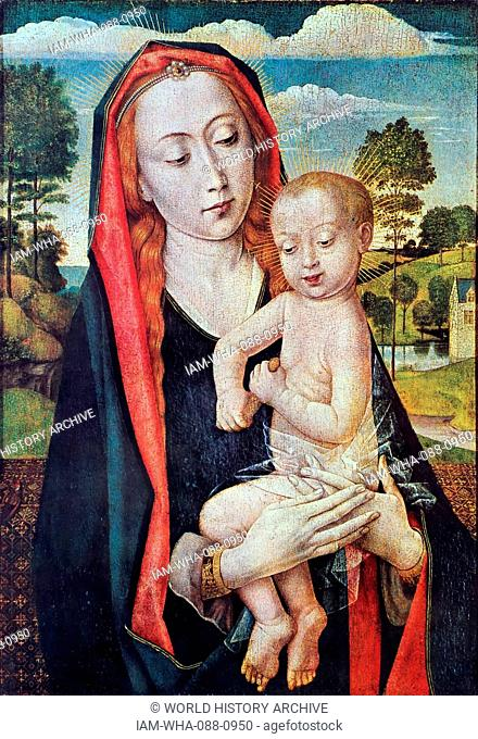 Detail from the 'Mary Triptych' by Hugo Van Der Goes (1440-1482) a Flemish painter. Dated 15th Century