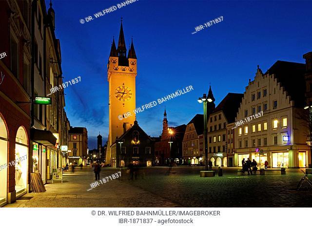 Stadtturm guard tower, Straubing, Lower Bavaria, Germany, Europe